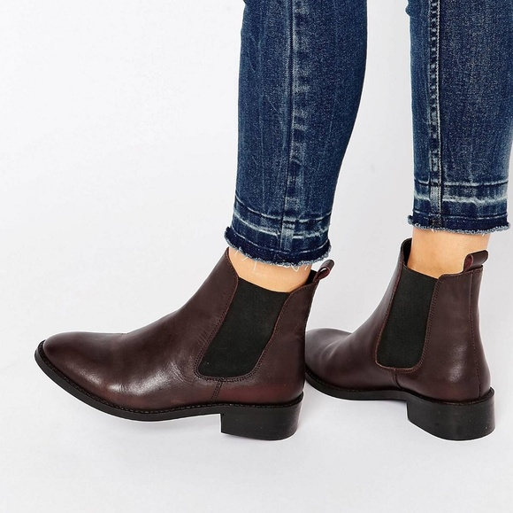 asos shoes leather attribute chelsea boot oxblood poshmark